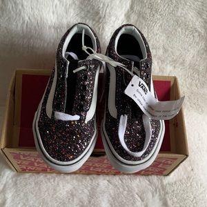 NWT in box Vans Lurex Glitter sneakers